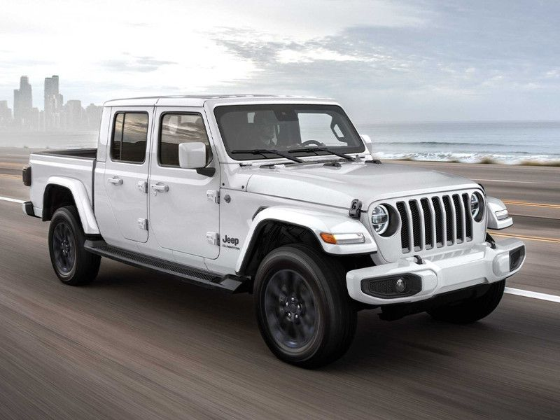 2020 Jeep Gladiator white driving