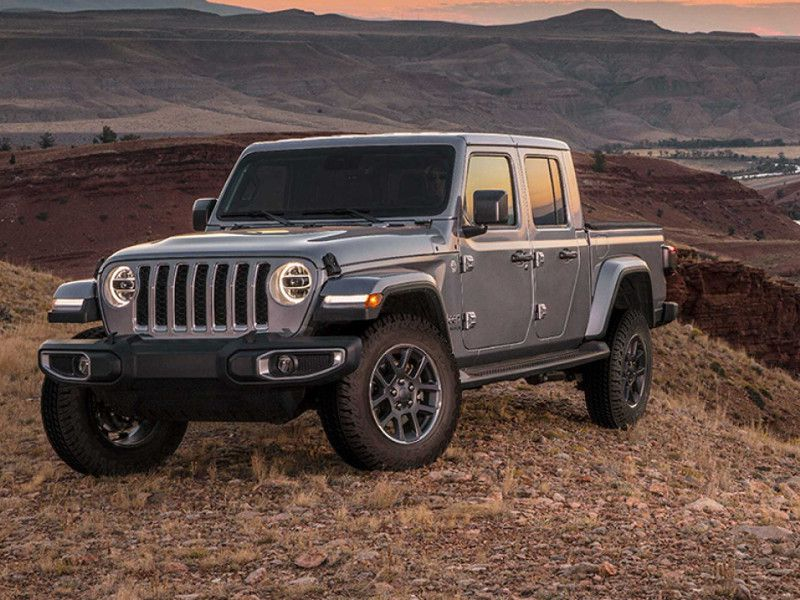 2020 Jeep Gladiator Overland parked in sunset