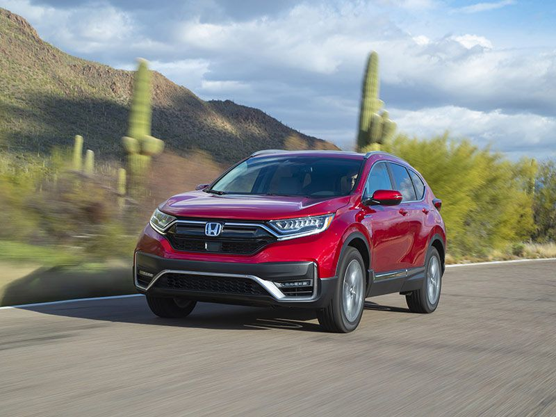 2020 Honda CR V front three quarter driving hybrid